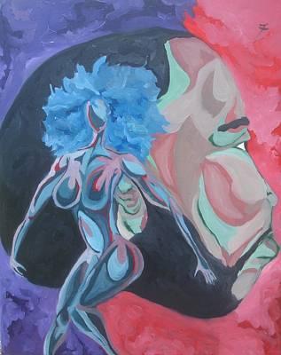 Fleurant Painting - Behind Every Great Man by Jason JaFleu Fleurant