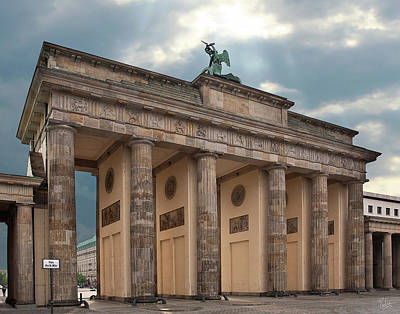 Photograph - Behind The Brandenburg Gate  by Endre Balogh