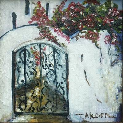 Behind The Iron Gate Art Print by Therese Alcorn