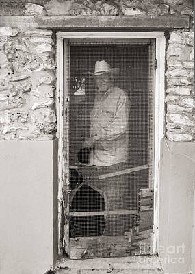 Photograph - Behind The Old Screen Door by Sherry Davis