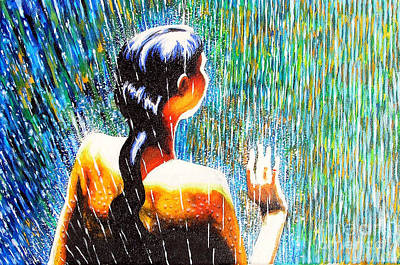 Behind The Rain Art Print by Jose Miguel Barrionuevo