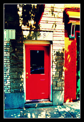 Photograph - Behind The Red Door by Lora Mercado