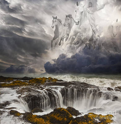 Composite Photograph - Behold A White Horse by Keith Kapple