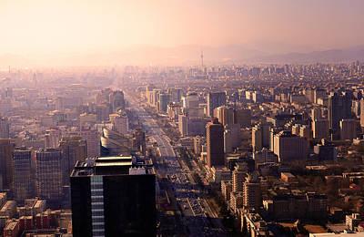 Beijing Cityscape Art Print by Andy Brandl