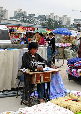 Photograph - Beijing Seamstress by Carla Parris