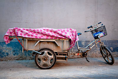 Beijing Tricycle In Hutong (alley) Art Print by Nora Tejada