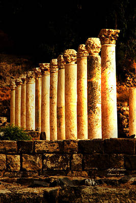 Beit She'an - Ancient Site - Colonnade.. Cardo 2 Art Print
