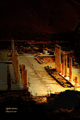 Beit She'an - Ancient Site - Colonnade.. Cardo Art Print