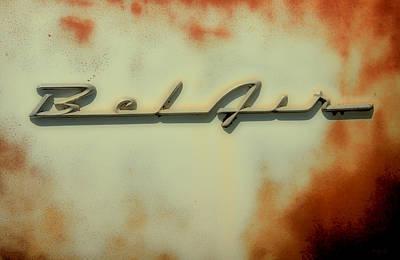 Car Insignia Photograph - Bel Air Insignia II by Tony Grider