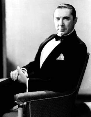 Hands Folded Photograph - Bela Lugosi, Portrait Ca. 1931 by Everett
