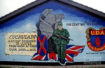 Belfast Mural Art Print by Thomas R Fletcher