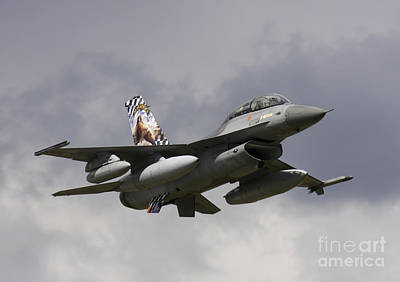 Air Component Photograph - Belgian F-16b Taking Off by Timm Ziegenthaler