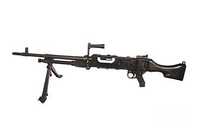 Belgian Fn Mag 7.62mm General Purpose Print by Andrew Chittock