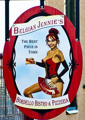 Bordello Photograph - Belgian Jennie   Jerome Arizona by Jon Berghoff