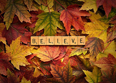 Photograph - Believe-autumn by Onyonet  Photo Studios