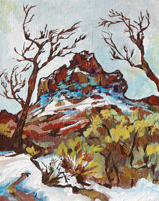 Snow Painting - Bell Rock 3 by Sandy Tracey