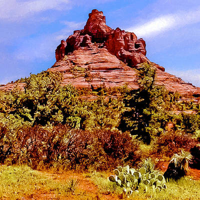 Painting - Bell Rock Vortex Painting by Bob and Nadine Johnston