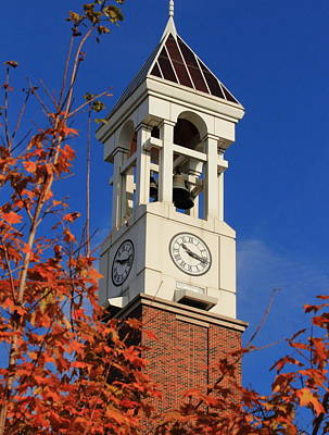 Photograph - Bell Tower In Fall Colors by Coby Cooper