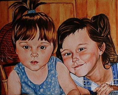 Painting - Bella And Claudia by LJ Newlin