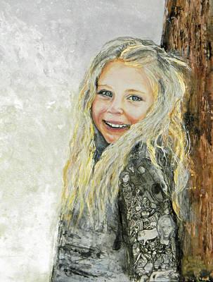 Painting - Bella Commission  Portrait by Anne-D Mejaki - Art About You productions