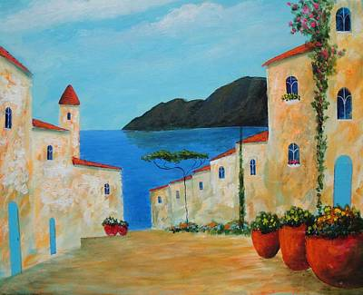 Art Print featuring the painting Bella Italia by Larry Cirigliano