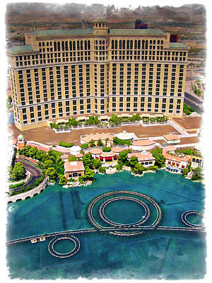 Photograph - Bellagio - Impressions by Ricky Barnard