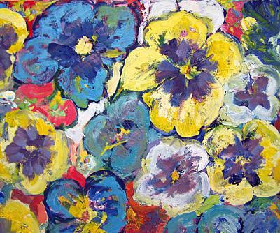 Bellagio Pansies Art Print by Patricia Taylor