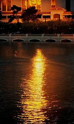 Art Print featuring the photograph Bellagio Sunset by Joe Urbz