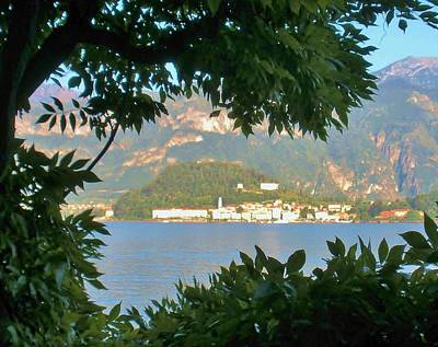 Lake Como Photograph - Bellagio Thru The Trees by Marilyn Dunlap