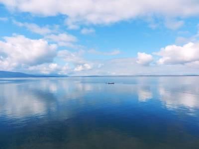 Art Print featuring the photograph Bellingham Bay In Blue by Karen Molenaar Terrell