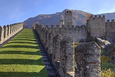 Castle Photograph - Bellinzona - Castelgrande by Joana Kruse