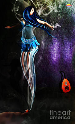 Belly Dance Genie Art Print by Vidka Art