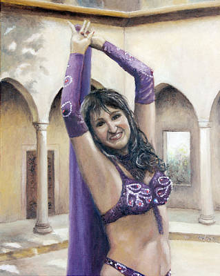 Painting - Belly Dancer Crystal by Ma Ly