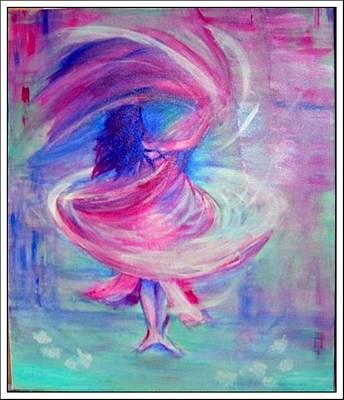 Belly Dancer Art Print by Regina Levai