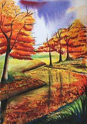 Beloved Autumn Art Print by Shakhenabat Kasana