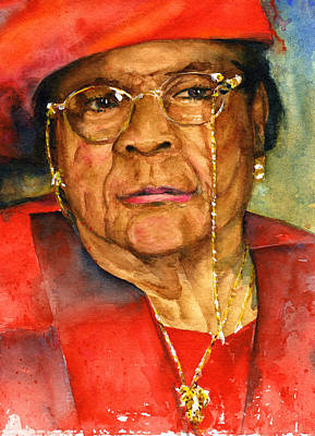 Painting - Beloved Grandmother by John D Benson