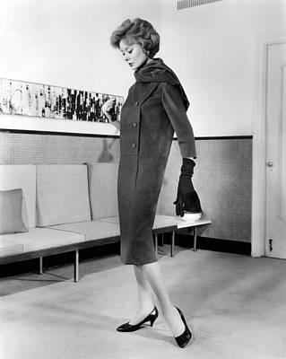 Below-the-knee Trapezoid Dress Print by Everett