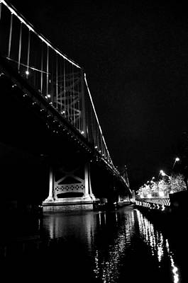 Photograph - Ben Franklin Bridge And  Race Street Pier by Andrew Dinh