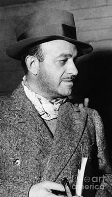 Lapel Photograph - Ben Hecht (1894-1964) by Granger