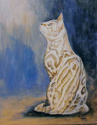 Ben The Snow Bengal Art Print