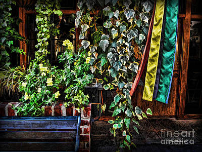 Photograph - Bench And The Vines by Joan  Minchak