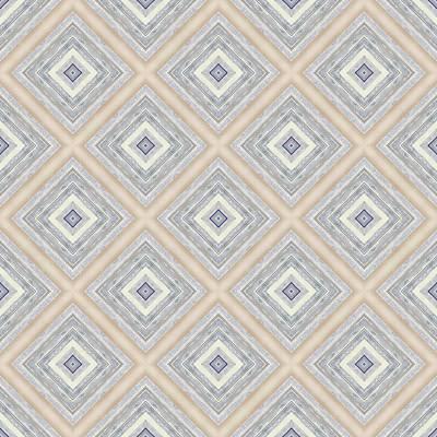 Decorative Photograph - Bench And Wall Pattern Pastel Hues by Hakon Soreide