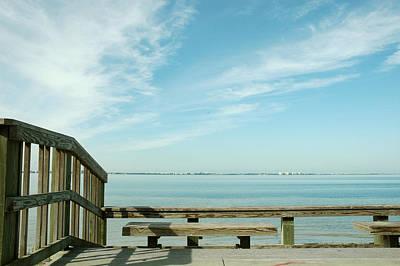 Photograph - Bench At Sarasota Bay by Carol Vanselow