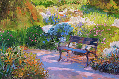 Bench On Margaret Island Art Print