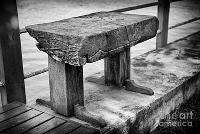 Art Print featuring the photograph Bench by Thanh Tran