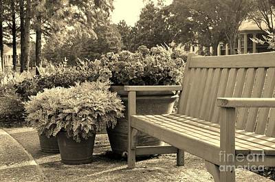 Photograph - Bench With Flowers by John Black