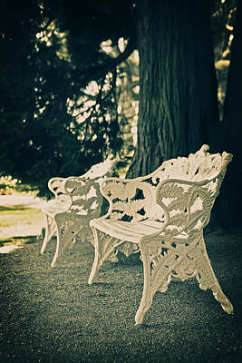 Park Benches Photograph - Benches by Joana Kruse
