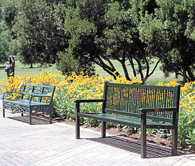 Photograph - Benches  by Lee Hartsell