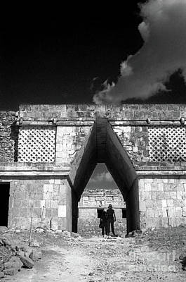Photograph - Beneath The Arch Uxmal Yucatan Mexico by John  Mitchell