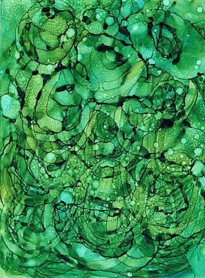 Beneath The Emerald City Art Print by Christine Crawford